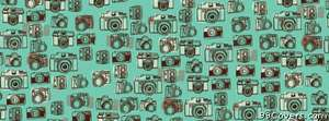 camera pattern Facebook Cover Photo