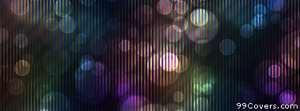 colorful circle stripes pattern Facebook Cover Photo
