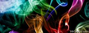 abstract colorful smoke Facebook Cover Photo