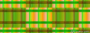 green orange brown checkered pattern Facebook Cover Photo