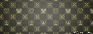 mickey mouse checkered pattern Facebook Cover Photo