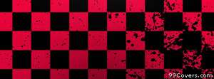 red and black checkered pattern Facebook Cover Photo