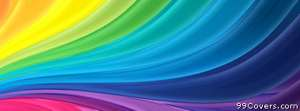 abstract rainbow Facebook Cover Photo