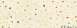 Heart Pattern Facebook Cover Photo