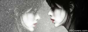 depressed girl reflection Facebook Cover Photo