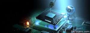 geek motherboard CPU Facebook Cover Photo