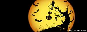 halloween moon 2 Facebook Cover Photo