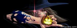 halloween Jack O Lantern pumpkin witch Facebook Cover