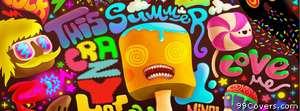 multicolor summer psychedelic Facebook Cover Photo