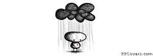 sad black cloud Facebook Cover Photo