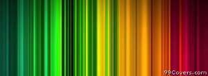 colorful lines Facebook Cover Photo