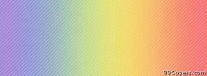 light rainbow lines Facebook Cover Photo