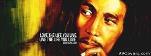 bob marley lyrics Facebook Cover Photo