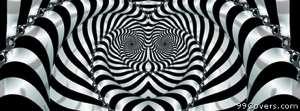 trippy zebra Facebook Cover Photo