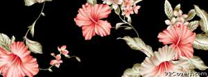 wallpaper floral pink black Facebook Cover Photo