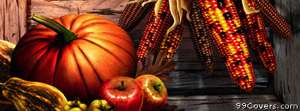 thanksgiving pumpkin corn Facebook Cover