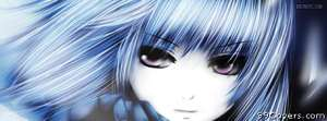 anime close up sadness Facebook Cover Photo
