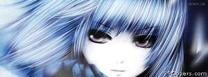 anime close up sadness Facebook Cover