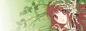 anime flower girl Facebook Cover