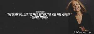 Gloria Steinem Facebook Cover Photo
