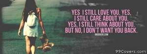 I dont want you back Facebook Cover Photo