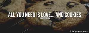 Love and cookies Facebook Cover Photo