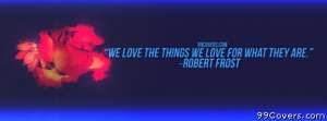 Robert Frost Facebook Cover