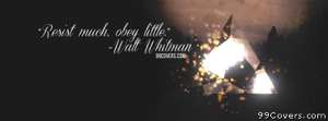 Walt Whitman Facebook Cover