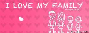 I love my stick family Facebook Cover Photo