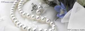 wedding pearl necklace Facebook Cover Photo
