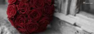 red roses wedding bouquet Facebook Cover Photo