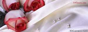 wedding roses and pearls Facebook Cover Photo