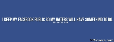 my haters Facebook Cover
