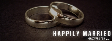 happily married Facebook Cover Photo