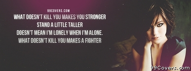 kelly clarkson stronger Facebook Cover Photo