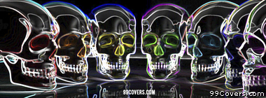 colourful skulls Facebook Cover Photo