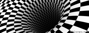 black hole checkered vortex optical illusions Facebook Cover Photo