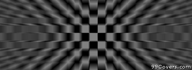 trippy black and white checkered pattern  Facebook Cover Photo