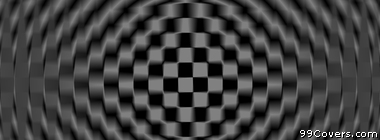 trippy black and white checkers pattern Facebook Cover Photo