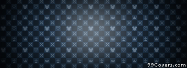 blue mickey checkered pattern Facebook Cover Photo