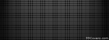 plaid texture pattern black and grey Facebook Cover Photo