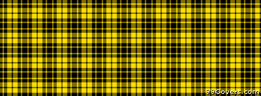 plaid texture pattern yellow and black Facebook Cover Photo