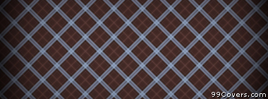plaid texture pattern brown and blue Facebook Cover Photo