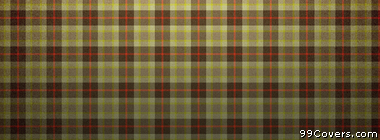 plaid texture pattern yellow brown red Facebook Cover Photo