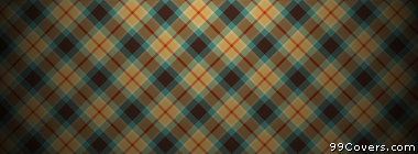 plaid texture pattern blue orange brown Facebook Cover Photo