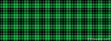 plaid texture pattern green and black Facebook Cover Photo