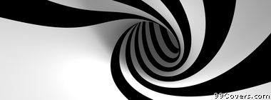 abstract black and white stripes Facebook Cover Photo