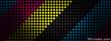 abstract multicolor striped texture dots CMYK Facebook Cover Photo