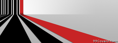 3d black red stripes pattern 30 Facebook Cover Photo