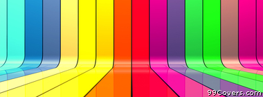 multicolor 3D colors stripes Facebook Cover Photo